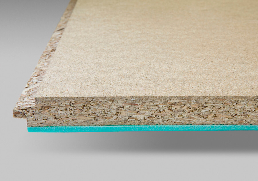 Particleboard acoustic panels with pre-bonded acoustic matting