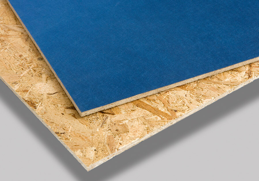 Pre-bonded breather membrane panels using OSB