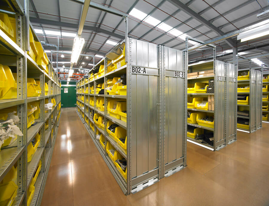 Slip resistant coatings to warehouse mezzanine floor