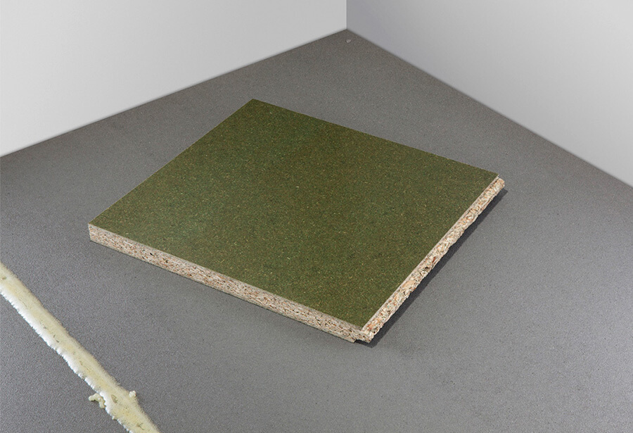 Slip resistant coatings - grey floor with green balancer to reverse