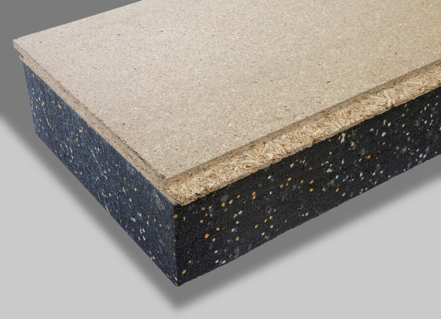 Tongue and groove particleboard thermal insulated panels