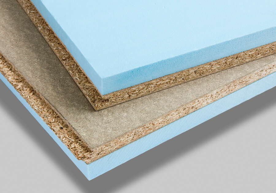 Acoustic panels with extruded polystyrene matting