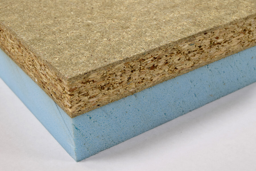 Particleboard pre-bonded thermal insulated panels