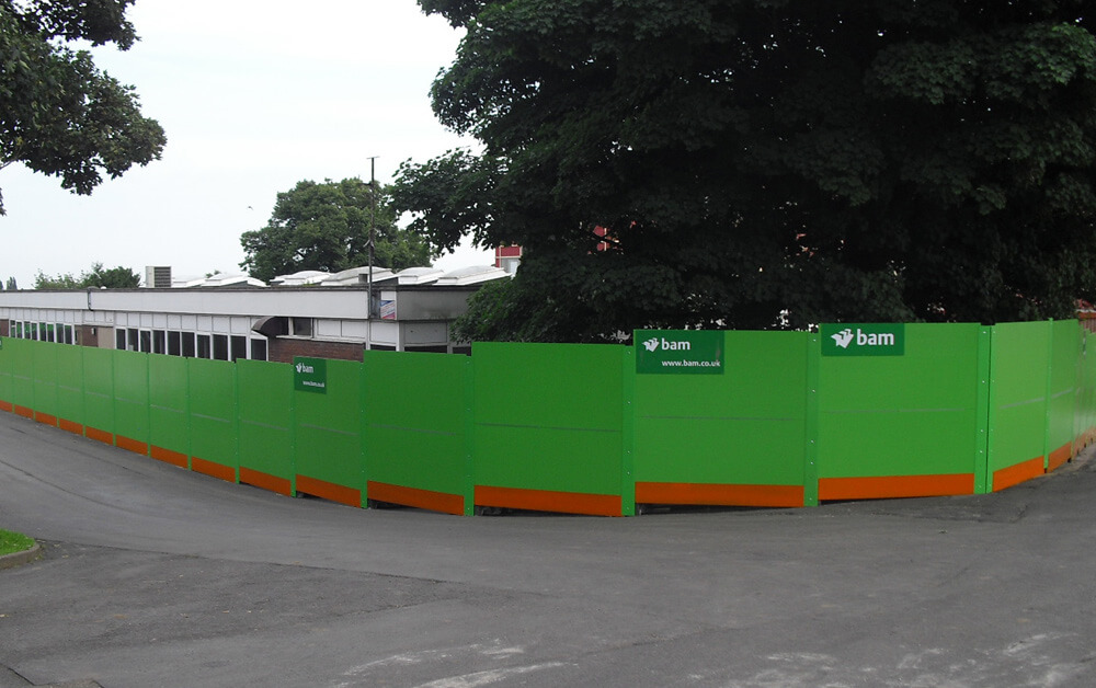 Pre finished hoardings for BAM Construction