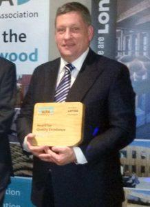 Howard Morris receives the WPA Award on behalf of TFS